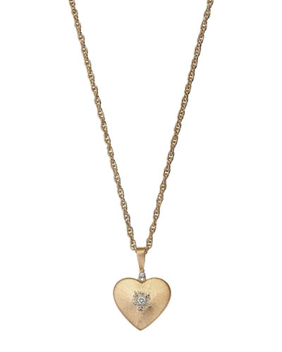 Macri 18k Diamond Heart Pendant Necklace
