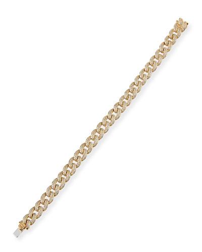 Narrow Pavé Diamond Curb Link Bracelet