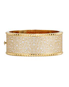 ROBERTO COIN ROCK & DIAMONDS Wide 18K Yellow Gold Bangle Bracelet