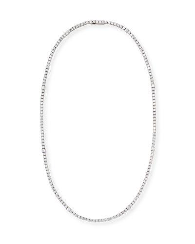 Diamond Riviera Necklace in 18K White Gold, 18
