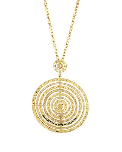 Amaia 18k Gold, Diamond & Corundum Circle Pendant Necklace