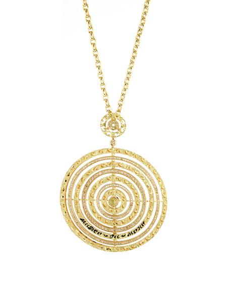 Marco Dal Maso Amaia 18k Gold, Diamond & Corundum Circle Pendant Necklace