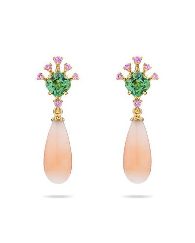 Dew Coral Drop Earrings