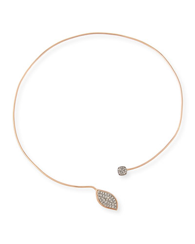 Kendra 14K Rose Gold Collar Necklace with Diamonds