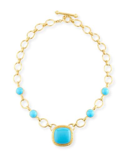 Positano Turquoise Cabochon Necklace