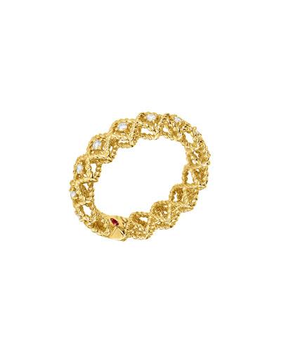 Barocco Single-Row Diamond Ring in 18K Gold