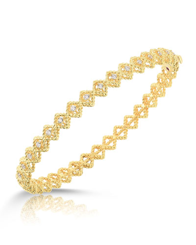 Barocco Single-Row Diamond Bracelet in 18K Yellow Gold