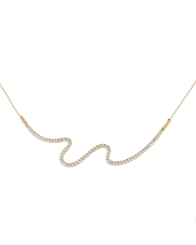 Brushstroke No. 62 Necklace with Diamonds
