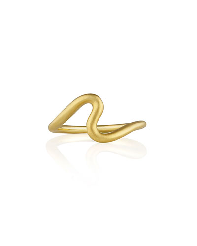 Brushstroke No. 1 Ring in 18K Yellow Gold