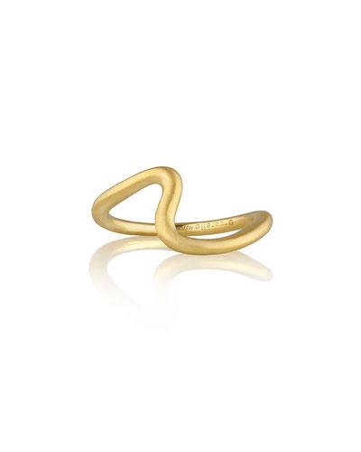 Brushstroke No. 3 Large Ring in 18K Yellow Gold