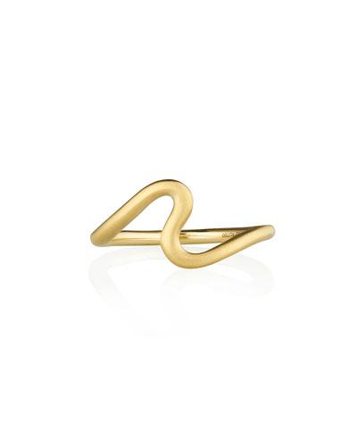 Brushstroke No. 2 Medium Ring in 18K Yellow Gold