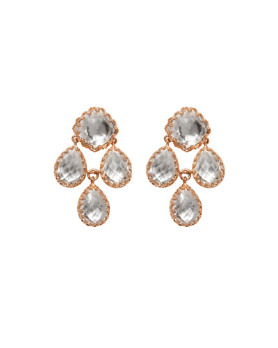 Antoinette Girandole Earrings in 18K Rose Gold Wash