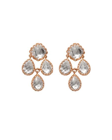 Larkspur & Hawk Antoinette Girandole Earrings in 18K Rose Gold Wash