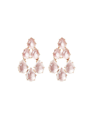Caterina Swag Earrings in Ballet Foil