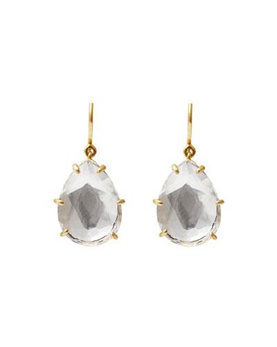 Caterina Single-Drop Earrings in White Foil