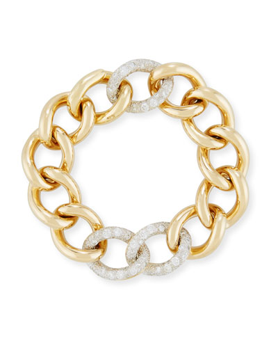 Tango Curb Link Bracelet with Diamonds