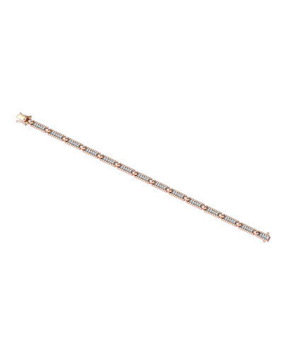 Beads 14k White Diamond One-Row Bracelet