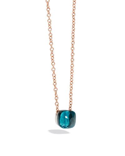Nudo 18k Rose Gold Blue Topaz Pendant Necklace