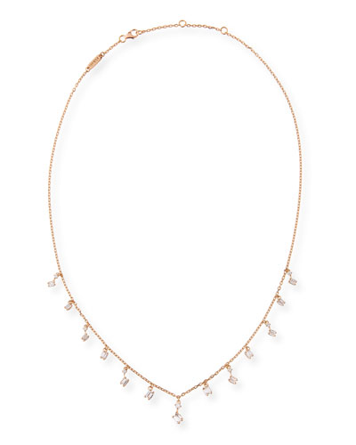 Dangling Diamond Necklace in 18K Rose Gold
