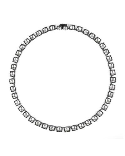 Bella Mini Riviere Necklace in Sky Foil