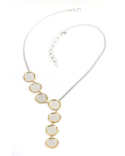 Serenity Asymmetric Necklace with Diamonds