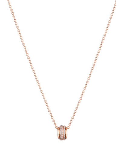 Possession 18K Red Gold Necklace with Diamonds