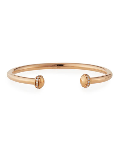 Possession Medium Bracelet with Diamonds in 18K Red Gold, Size L