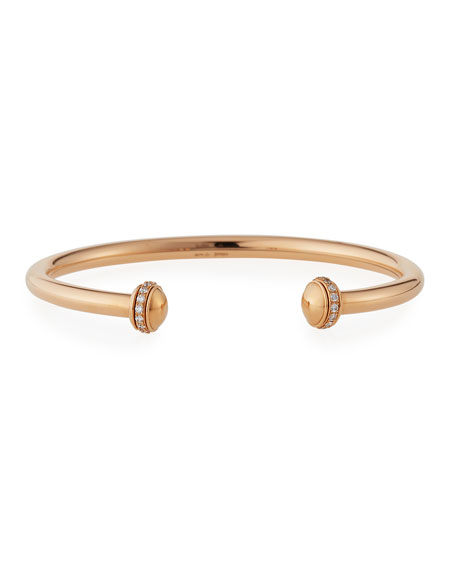 PIAGET Possession Medium Bracelet with Diamonds in 18K Red Gold, Size L