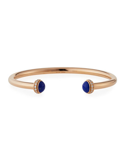 Possession Large Lapis Cabochon Bracelet in 18K Red Gold, Size L
