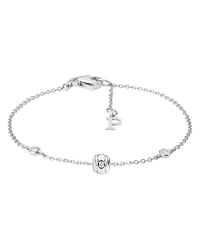 Possession 18K White Gold Chain Bracelet with Diamonds