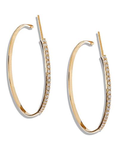 Femme Small Hoop Earrings with Diamonds