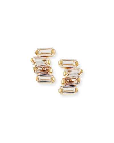 Signature Mini Fireworks Bar Stud Earrings in 14K Yellow Gold