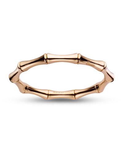 18K Rose Gold Bamboo Bangle Bracelet