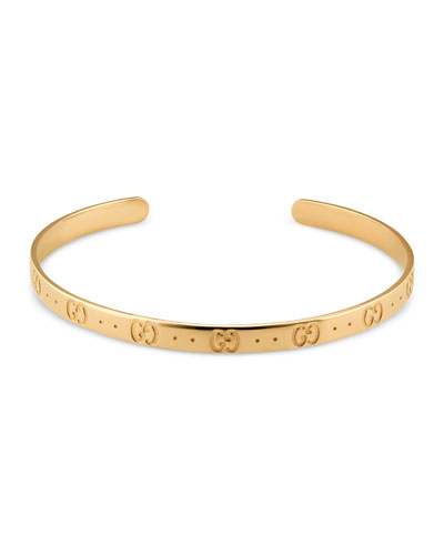 Icon Thin Bangle in 18K Gold