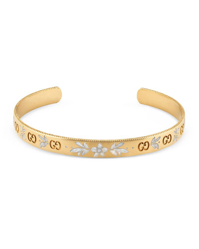 Quick Look Gucci Icon Bangle Bracelet In 18k Gold