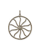 Diamond Wheel Enhancer Charm Pendant