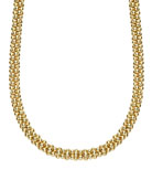 4mm 18K Caviar Rope Necklace, 18""