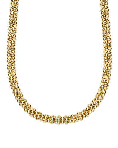 4mm 18K Caviar Rope Necklace, 18