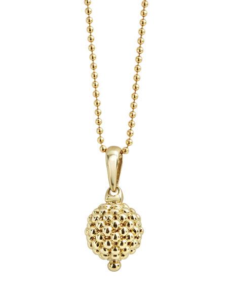 Lagos 18K Gold Caviar Ball Pendant Necklace