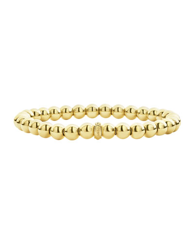 Caviar Gold Collection 18K Gold Beaded Bracelet, 6Mm