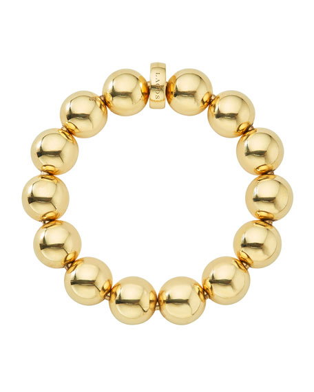 Lagos Medium 15mm Caviar Ball Stretch Bracelet