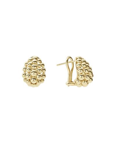 Bold Caviar Medium 18K Gold Huggie Earrings