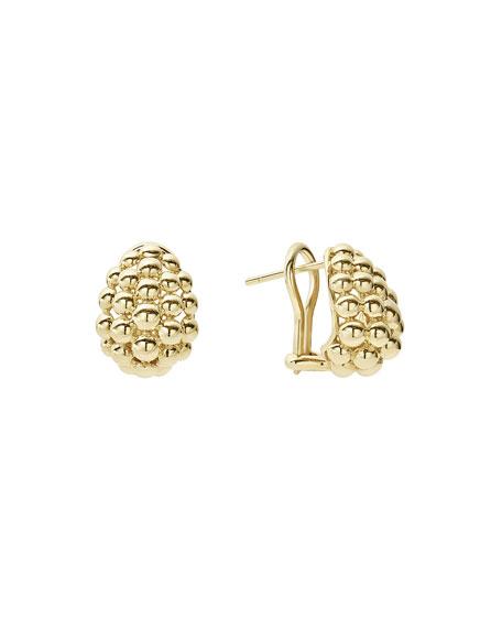 Lagos Bold Caviar Medium 18K Gold Huggie Earrings