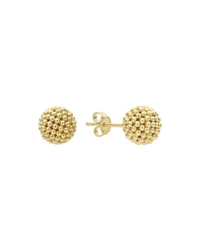 Caviar Lattice Ball Stud Earrings