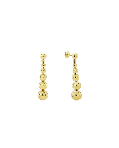 Small 18K Gold Caviar Ball Drop Earrings