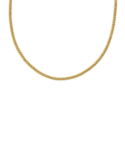 3mm 18K Gold Caviar Rope Necklace, 16