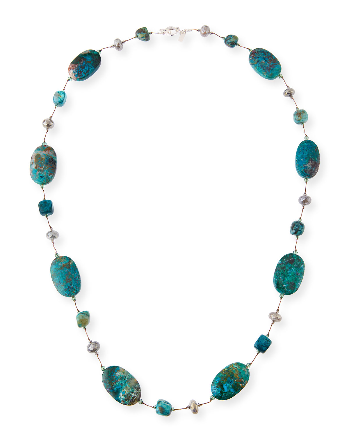 Chrysocolla & Agate Station Necklace