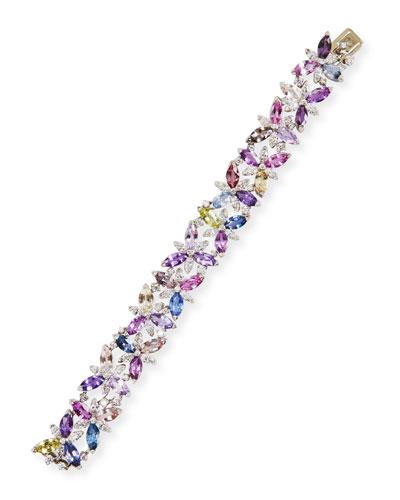 Marquis Sapphire & Diamond Bracelet in Platinum