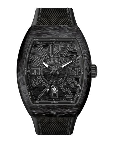 Vanguard Watch with Black Carbon Fiber Strap
