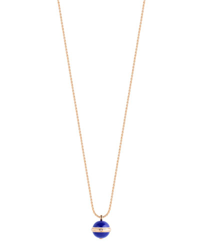 Possession Lapis Cabochon Pendant Necklace
